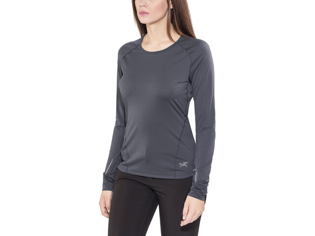 Arc'teryx Motus Camiseta de manga larga Mujer, black sapphire